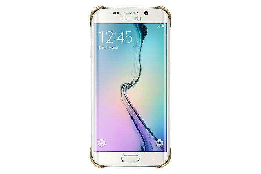 Samsung ochranný kryt EF-QG925B pro Samsung Galaxy S6 edge (SM-G925F), zlatá