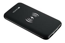 CANYON bezdrátová powerbanka 8000 mAh, input 5V/2A(Type C and Micro USB), černá