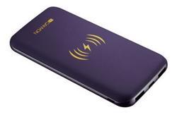 CANYON bezdrátová powerbanka 8000 mAh, input 5V/2A(Type C and Micro USB), fialová