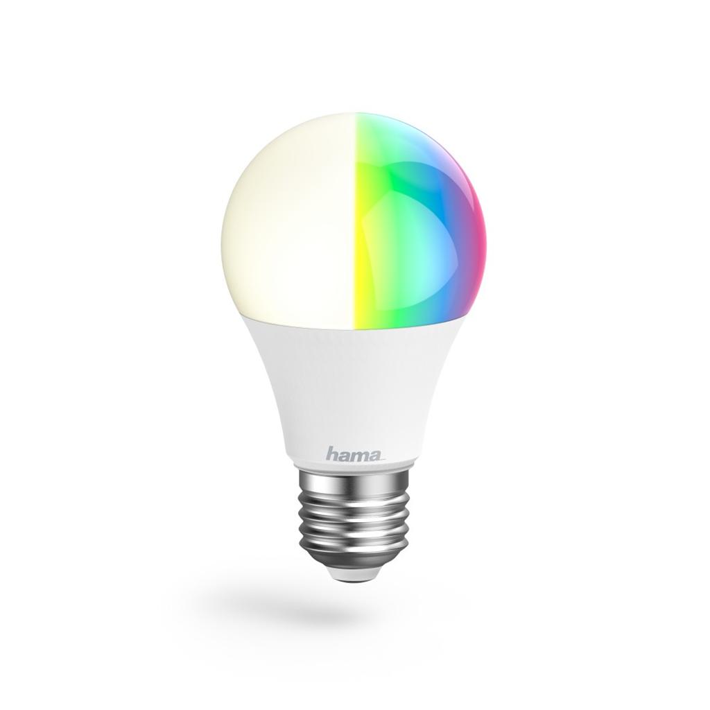 Hama WiFi LED žárovka, E27, 10 W, RGB, stmívatelná