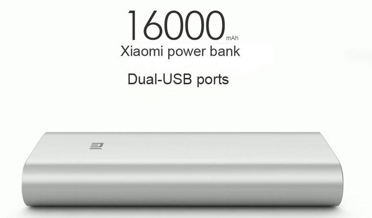 Xiaomi Power Bank 16000 mAh, 2x USB, silver