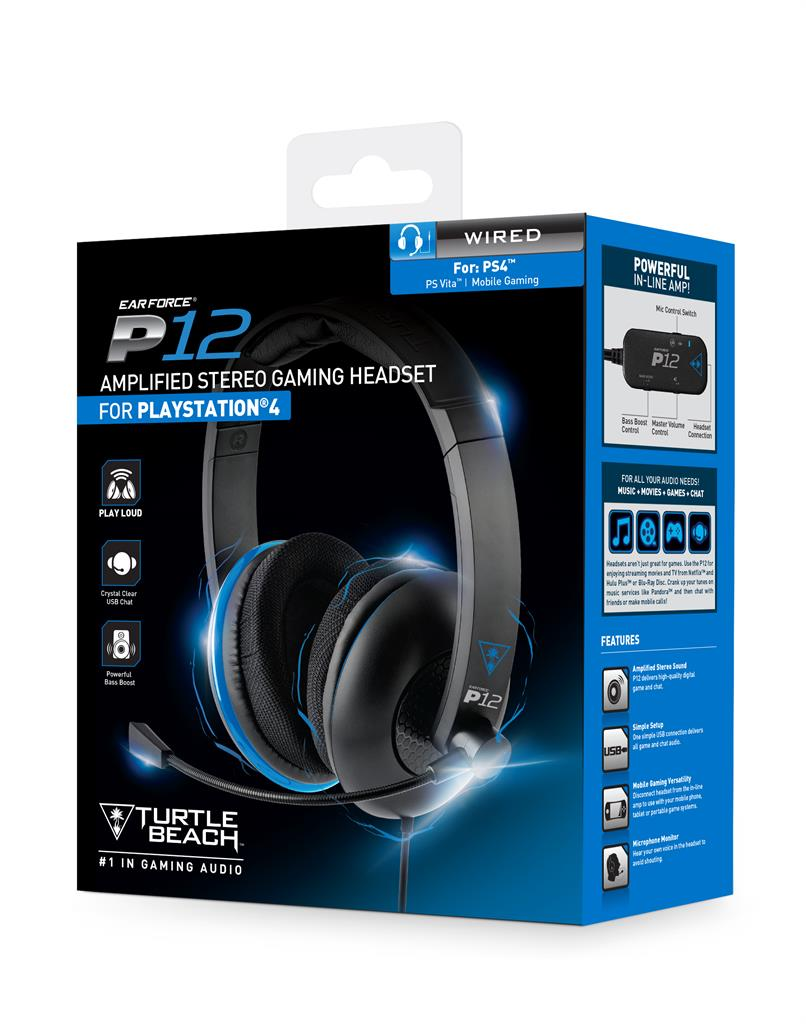 Turtle Beach EAR FORCE P12 sluchátka s mikrofonem