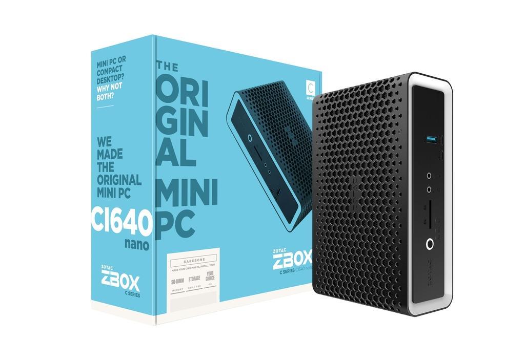 ZOTAC ZBOX CI640 NANO, i5-8250U, 2xDDR4 SODIMM, SATA3, DP/HDMI