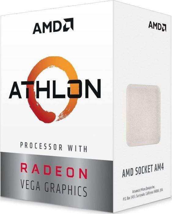 AMD Athlon 240GE, Radeon Vega Graphics, Dual Core, 3500MHz, 5MB, AM4, 35W