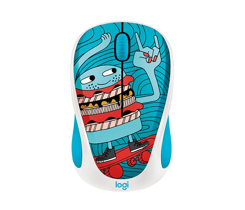 Logitech® Wireless Mouse M238 Doodle Collection - Skateburger - EMEA