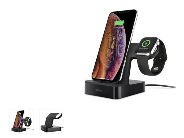 Belkin nabíjecí stojánek pro Apple Watch + iPhone 8/8+/X/Xs/XsMax/Xr - černý