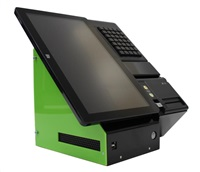 "POŠKOZENÝ OBAL - EET Cube 15V2 Touch AiO pokladna 15"", J1800, 2/32GB, Win 10, 80mm, řezačka, 35 KEY, 4x USB, LAN,"
