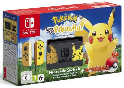 Nintendo Switch + Pokemon Let's Go Pikachu + Poke Ball