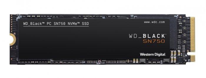 WD BLACK SSD NVMe 500GB PCIe SN750,Gen3 8 Gb/s, (R:3470, W:2600MB/s)