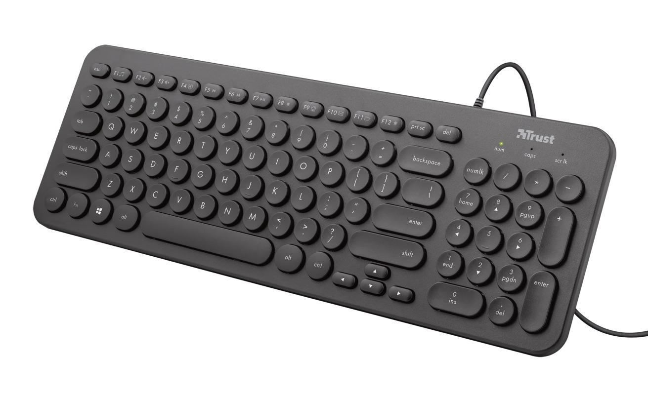 klávesnice TRUST Muto Silent Keyboard, UK