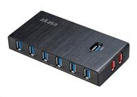 AKASA HUB USB Elite 10EX, USB 3.0, 10-port, 2 fast charging