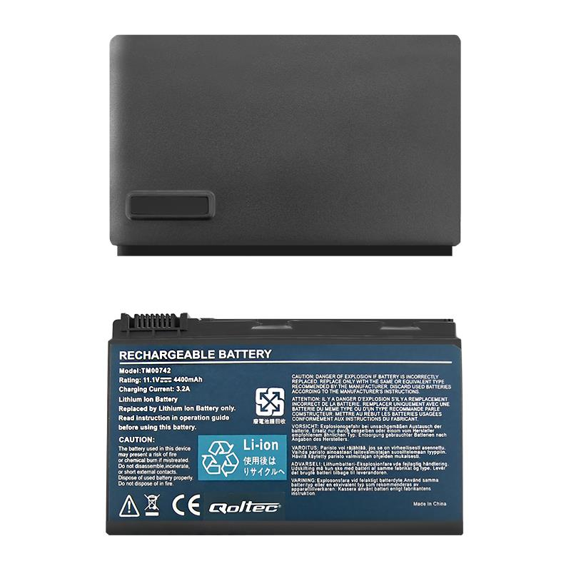 Qoltec Long Life Notebook Battery Acer Extensa 5220 5620 5520 | 11.1 V | 4400mAh