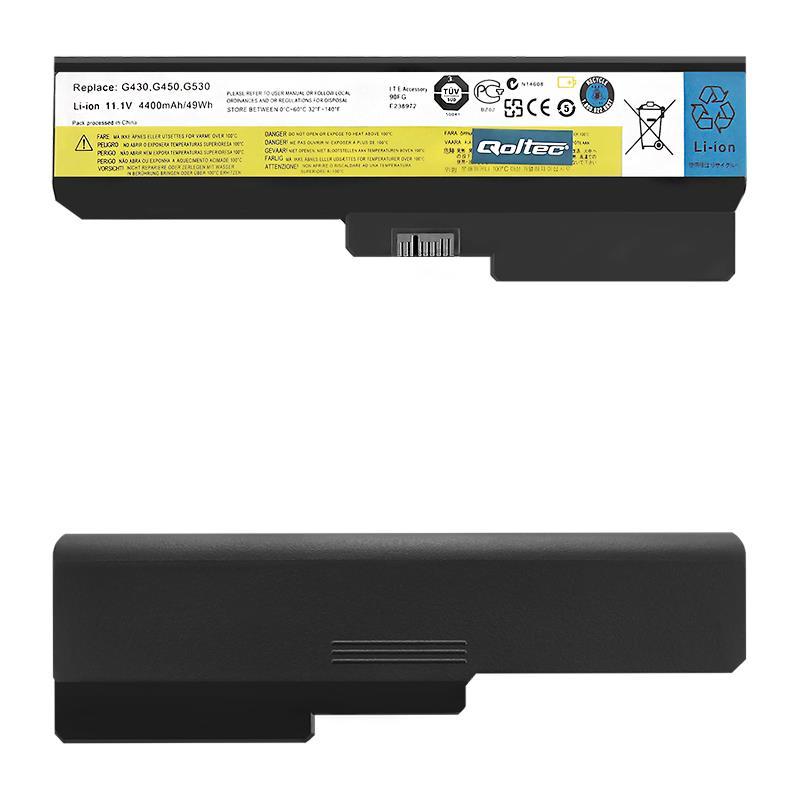 Qoltec Long Life Notebook Battery Lenovo B550 G530 G550 G555   11.1 V   4400 mAh