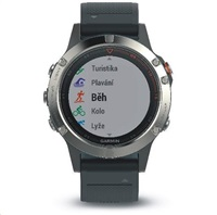 Garmin fenix5 Silver Optic, Black band