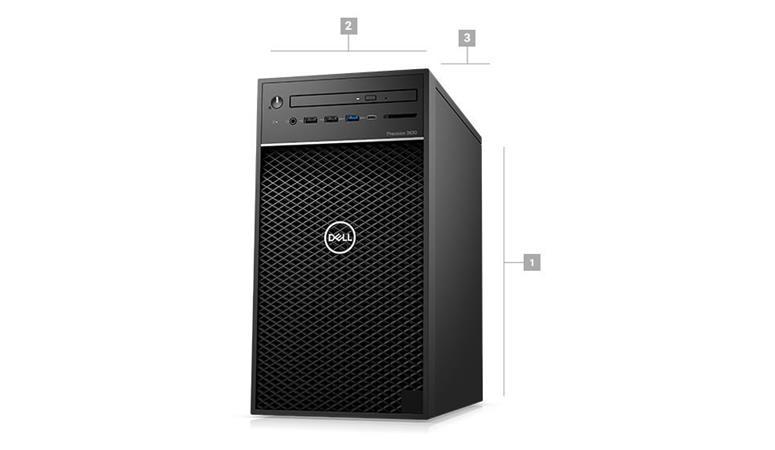 DELL Precision T3630/E-2146G/16GB/256GB SSD/1TB/4GB Quadro P1000/Win 10 Pro/3Y PS NBD