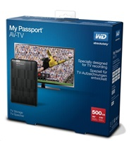 "BAZAR - WD My Passport AV-TV 500GB Ext. 2.5"" USB3.0, Black"