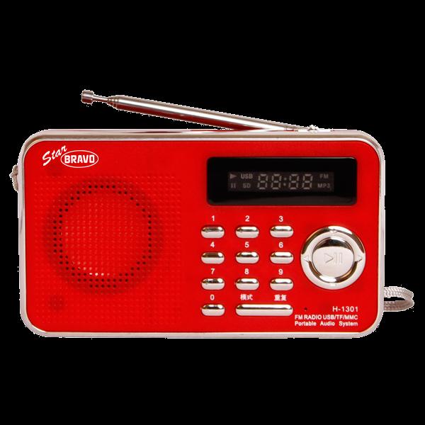 Rádio Bravo B-6018 červené