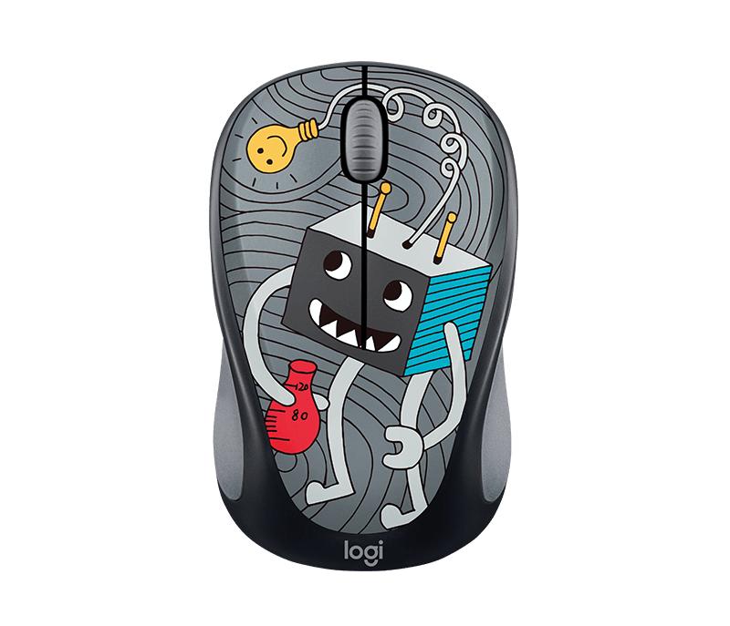 Logitech® Wireless Mouse M238 Doodle Collection - Lightbulb - EMEA