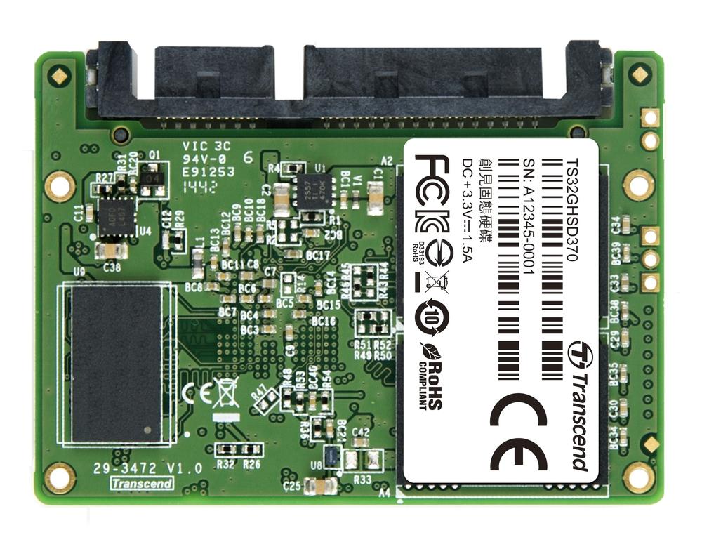 TRANSCEND HSD370 32GB Half-Slim SSD disk SATA III 6Gb/s, MLC, 560MB/s R, 400MB/s W