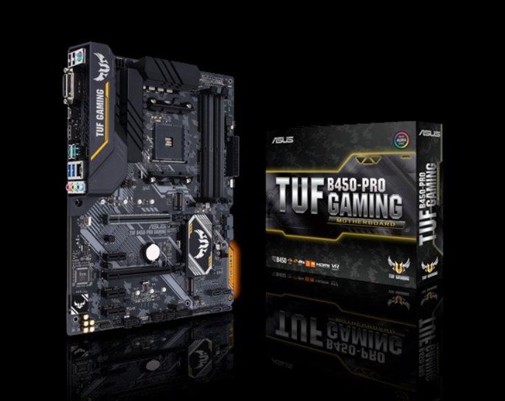 ASUS TUF B450-PRO GAMING Socket AM4, B450, 4x DDR4, SATA 6Gb/s, HDMI, M.2, USB 3.1 Gen 2, ATX