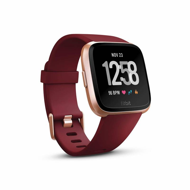 Fitbit Versa - Merlot Band / Rose Gold Case