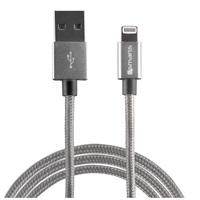 4smarts datový kabel RAPIDCord, Lightning Mfi, délka 1 m, šedá