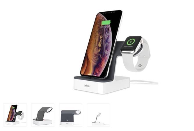 Belkin nabíjecí stojánek pro Apple Watch + iPhone 8/8+/X/Xs/XsMax/Xr - bílý
