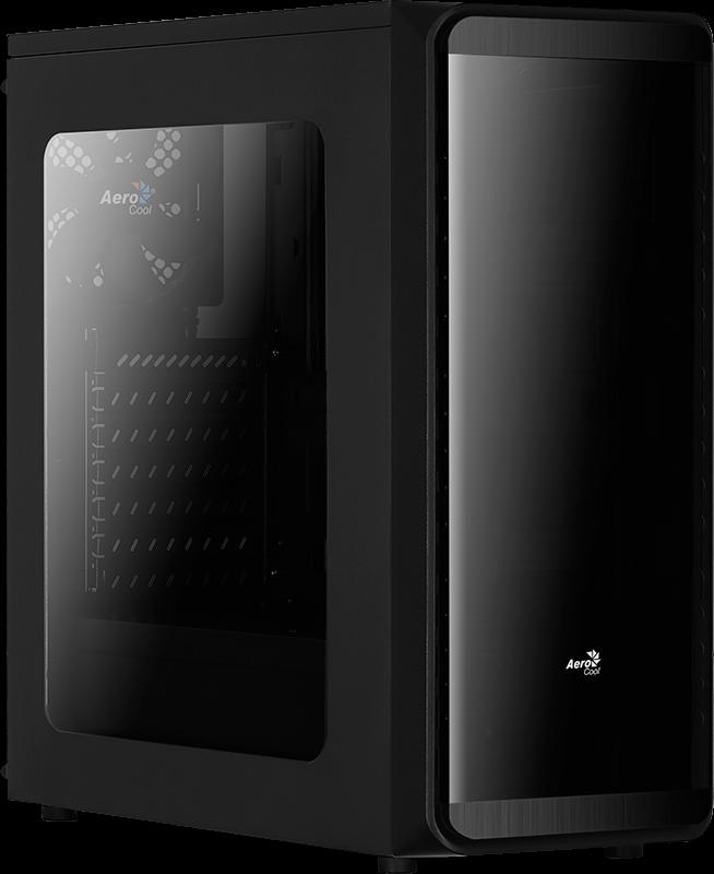 Aerocool PC skříň ATX SI 5200 WINDOW BLACK, USB 3.0, bez zdroje