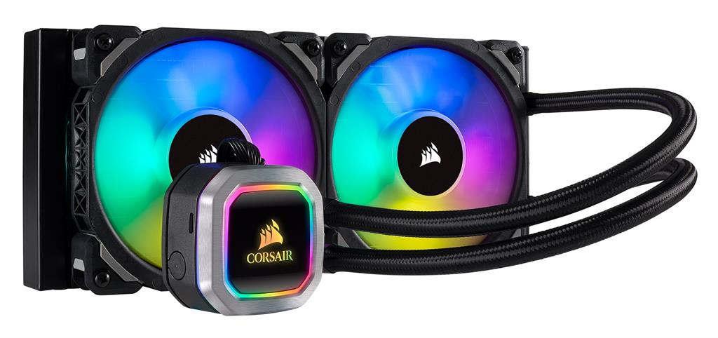 Corsair Hydro Series H100i RGB PLATINUM CPU Cooler, 280mm x 120mm x 30mm