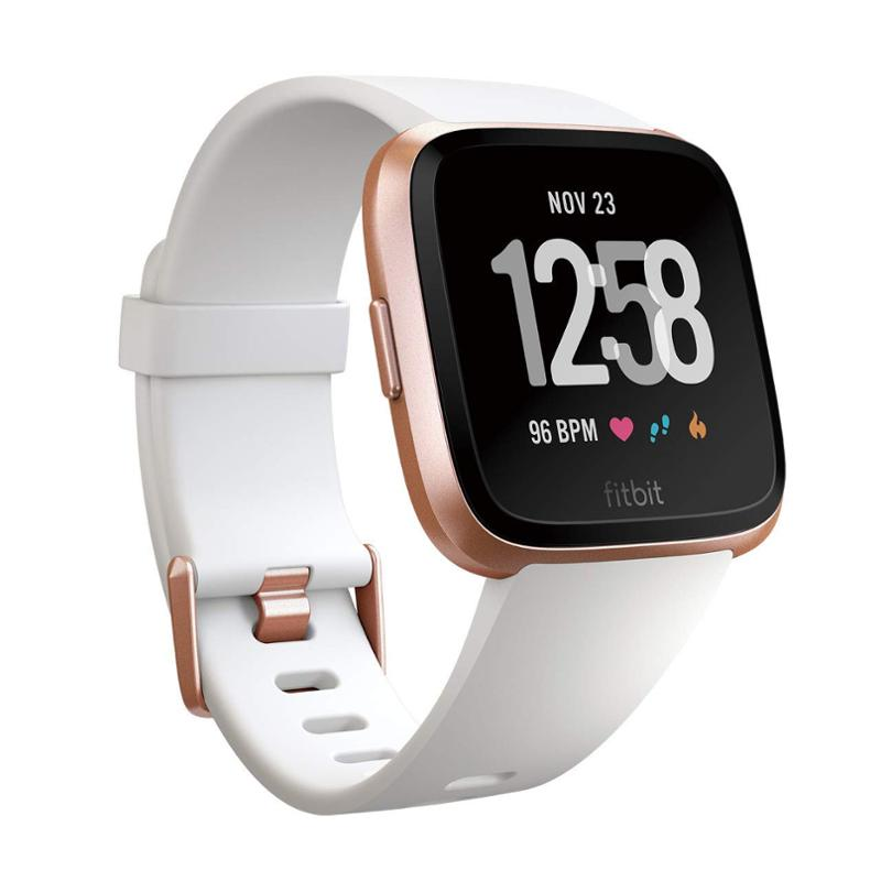 Fitbit Versa - White Band / Rose Gold Case