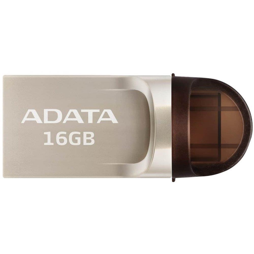 Adata USB-C, USB-A 3.1 Flash Drive UC370 16GB GOLDEN