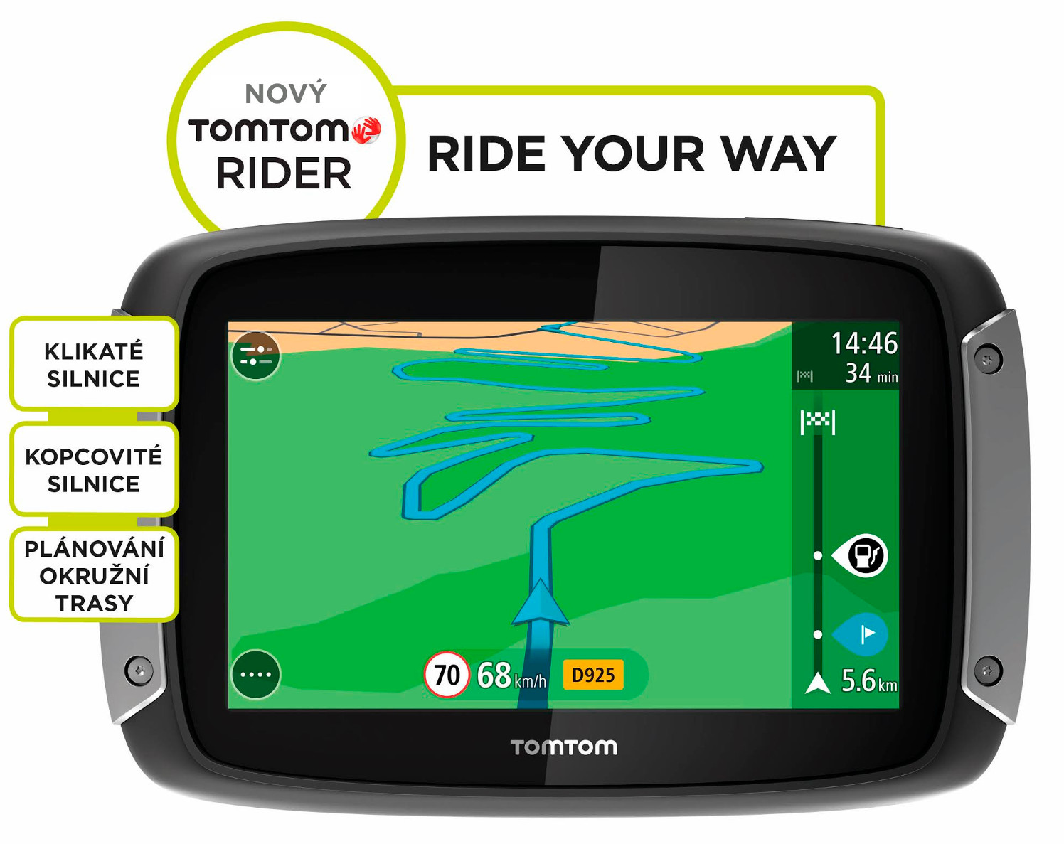 TomTom Rider 40 CE pro motocykly LIFETIME mapy