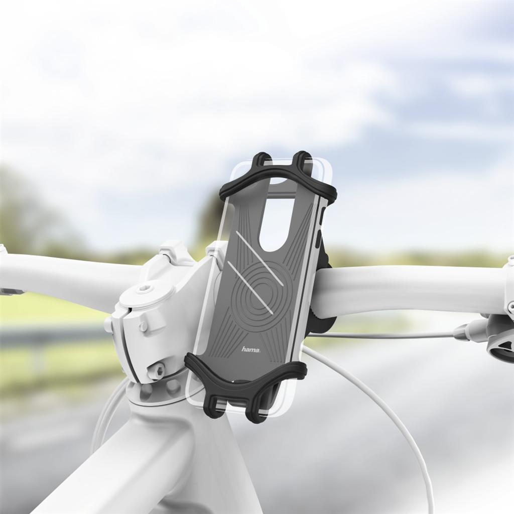 Hama držák mobilu na jízdní kolo, pro zařízení s šířkou 6-8 cm a výškou 13-15 cm