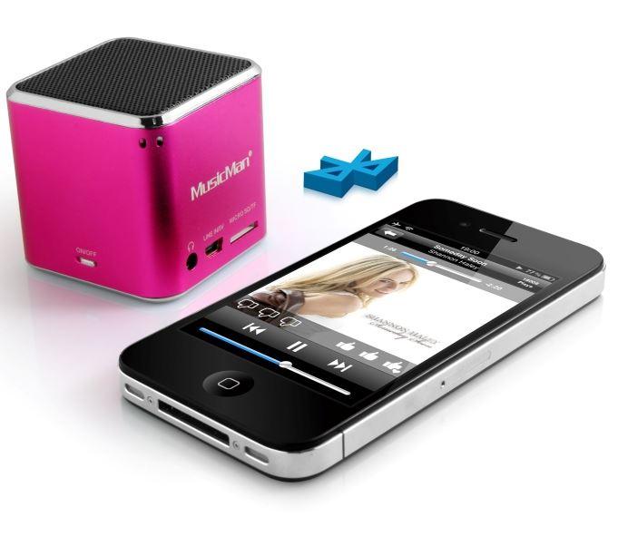 Technaxx Mini MusicMan, bluetooth, 600 mAh, růž.