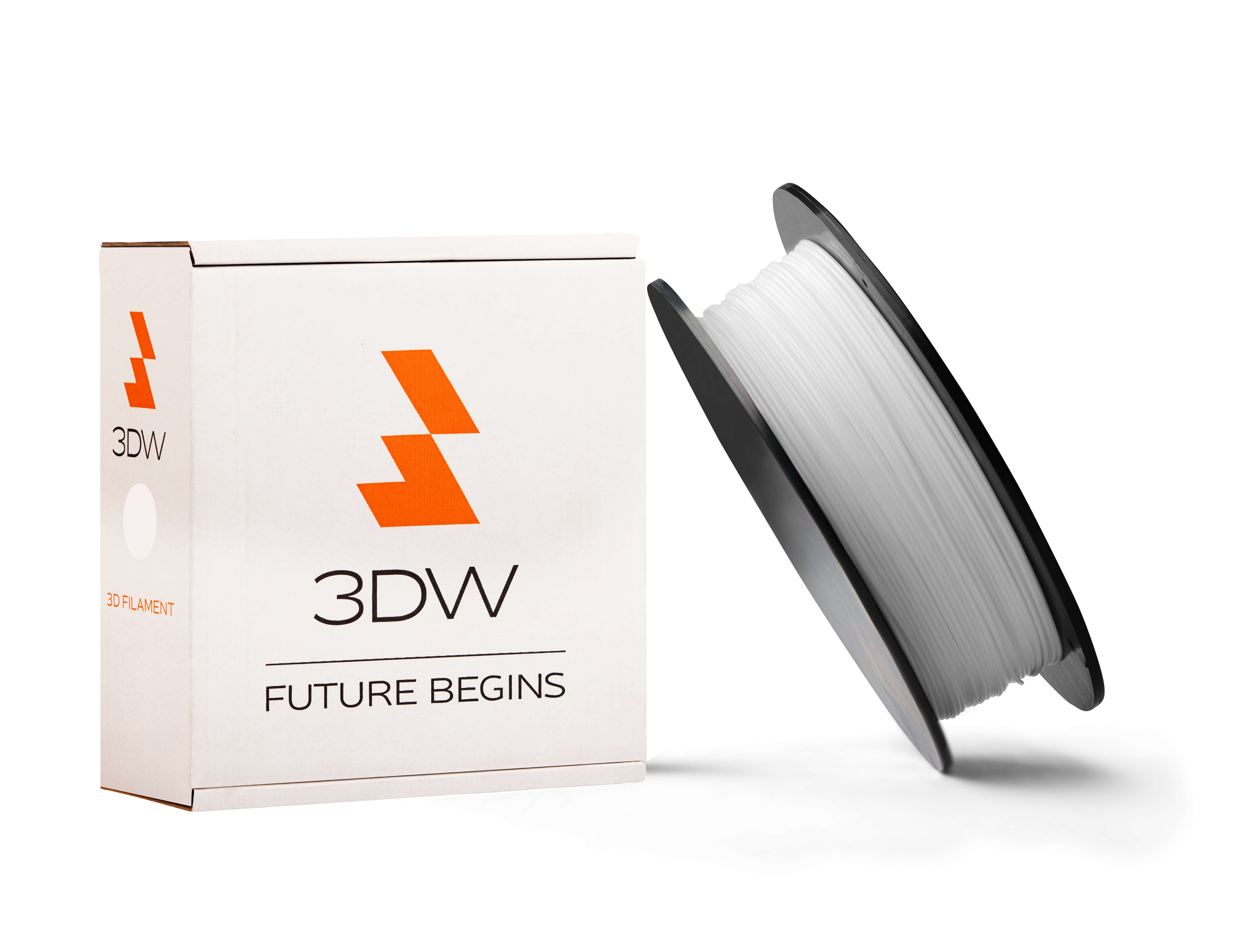 3DW - PLA filament 1,75mm bílá, 1kg, tisk 190-210°C