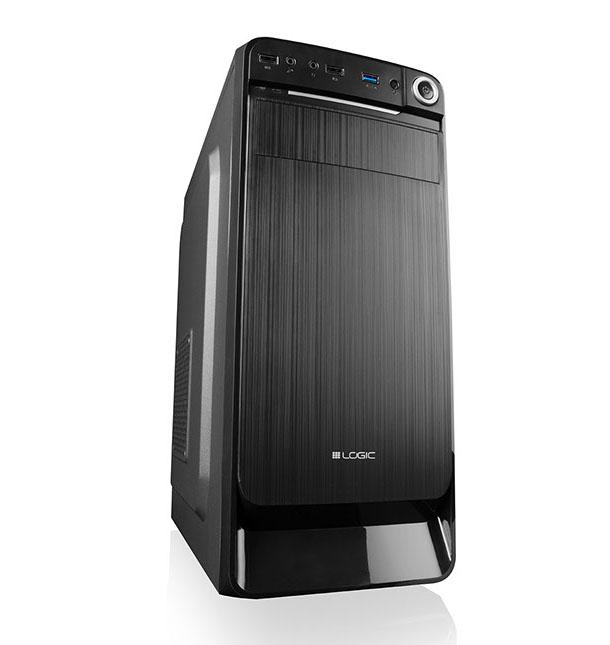 Modecom PC skříň LOGIC K3 MIDI, 1x USB 3.0, 2x USB 2.0 + audio HD, černá, bez zdroje