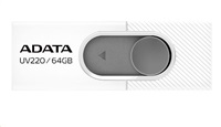 ADATA Flash Disk 8GB USB 2.0 Dash Drive UV220, White/Gray