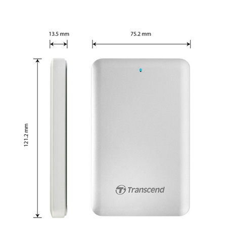 Transcend 256GB USB 3.0 + Thunderbolt pro APPLE External Solid State Drive TS256GSJM500