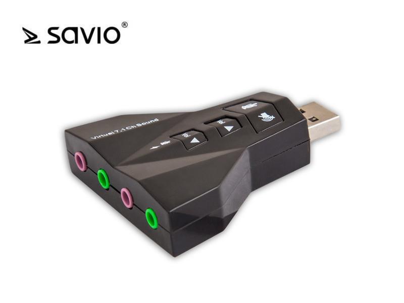SAVIO AK-08 Zvuková karta 7.1 USB