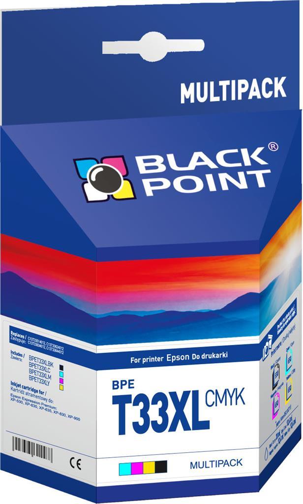 Tusz cartridge Black Point BPET33XLCMYK | MULTIPACK | CMYK | Epson XP-530,