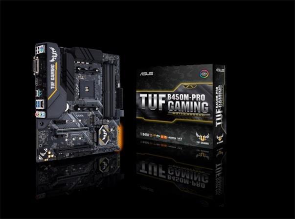 ASUS B450M-PRO GAMING Socket AM4, B450, 4x DDR4, SATA 6Gb/s, HDMI, M.2, USB 3.1 Gen 2, mATX