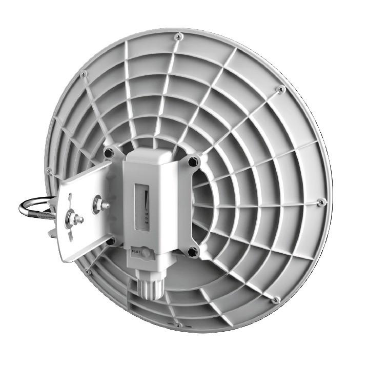 MikroTik DynaDish 5, RBDynaDishG-5HacD, 23dBi dual 8°, 802.11ac, ROS L3, GLAN, PoE, zdroj, mont.kit