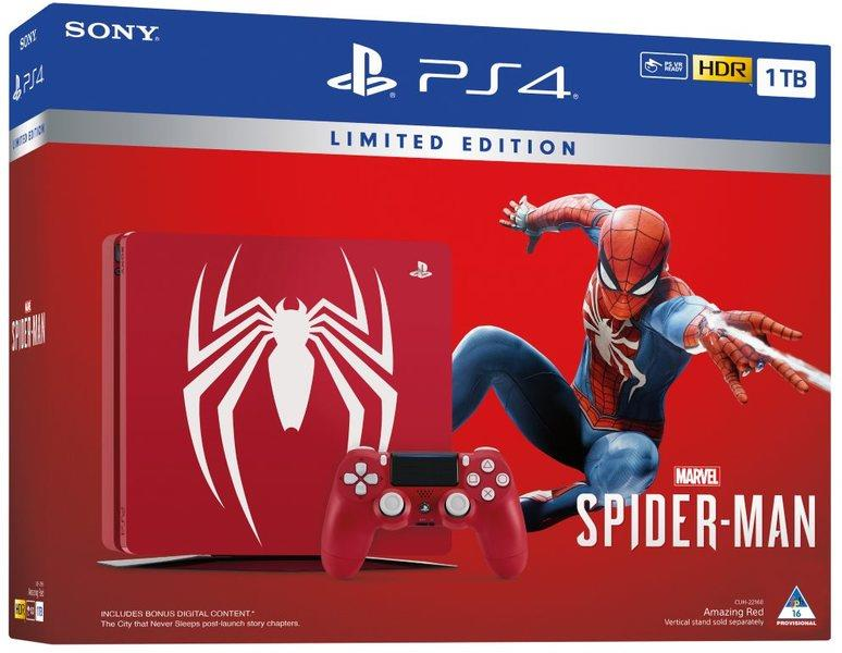 Sony Playstation 4 1TB Slim + Spider-Man LIMITED EDITION