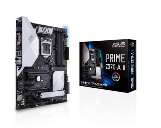 ASUS PRIME Z370-A II Intel Socket 1151/4DDR4/2 x PCIe 3.0/2.0 x16/M.2 Socket 3/SATA 6Gb/s*6/ATX