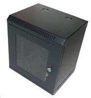 """XtendLan 10"""" jednodílný nástěnný rozvaděč 9U, šířka 350mm, hloubka 280mm, černý"""