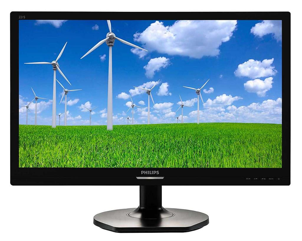 """Philips LCD 221S6QSB 21,5""""wide/1920x1080/5ms/20mil:1/DVI/IPS/LED"""