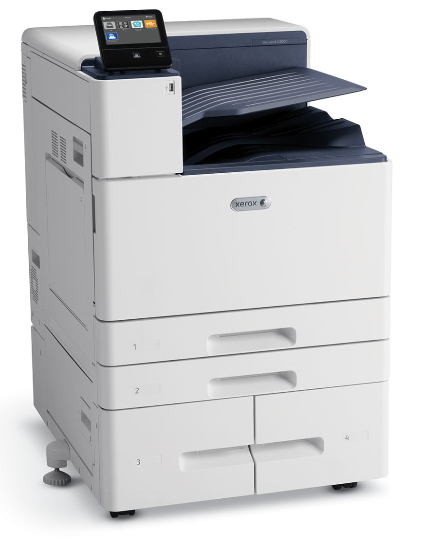 VersaLink C8000 A3 45/45 ppm Duplex Printer Adobe PS3 PCL5e/6 3 Trays Total 1140 sheets