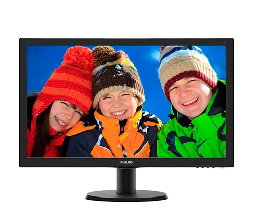 "Philips LCD 243V5LHSB/00 23,6"" wide TN/1920x1080/10M:1/1ms/250 cd/VGA/DVI-D/HDMI/VESA/tco 6.0/TUV GS"