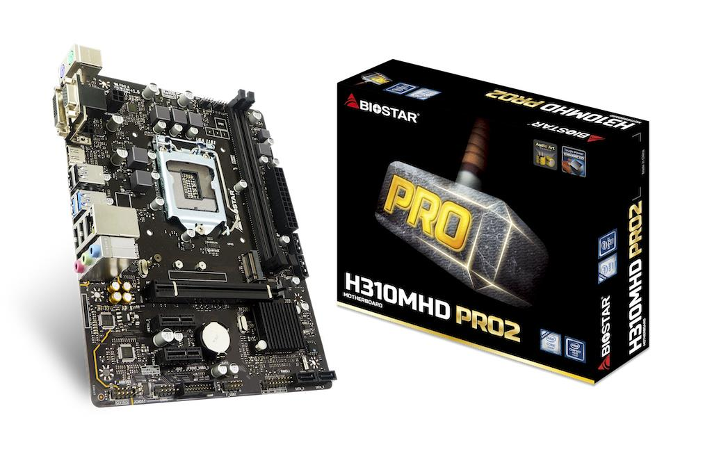 Biostar H310MHD PRO2, Intel H310, LGA 1151, DDR4