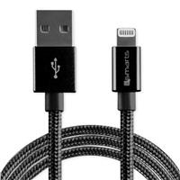 4smarts datový kabel RAPIDCord, Lightning Mfi, délka 1 m, černá